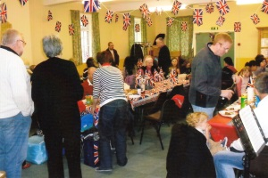 Downstairs room during Jubilee celebrations 2012.