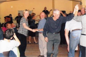 Village ceilidh in upstairs room.