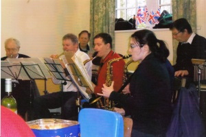 Local swing band provides entertainment.